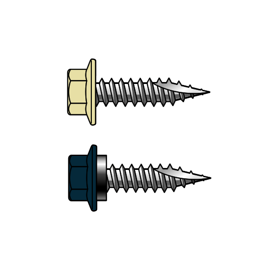 T17 12-11x25 Painted Hex Head Screws