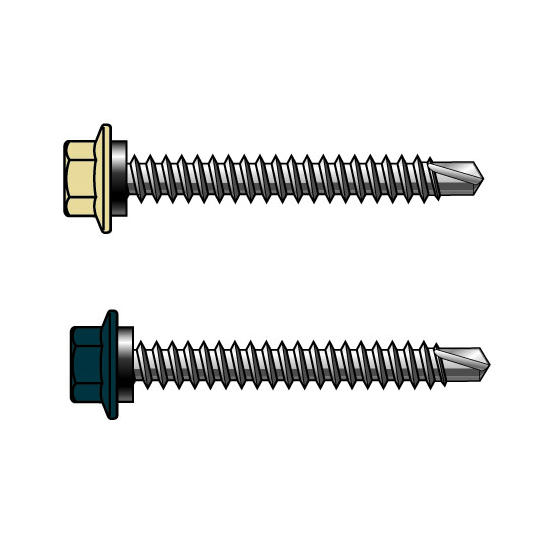 14-10x50 Painted Hex Head Screws