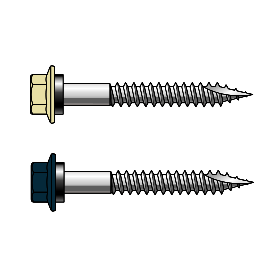 T17 14-11x50 Painted Hex Head Screws