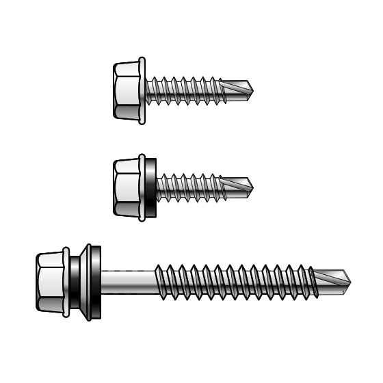14 Gauge Hex Head Metal Self Drilling Screws